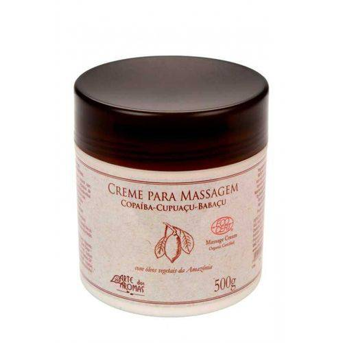 Creme para Massagem Copaíba Orgânico 500g Arte dos Aromas