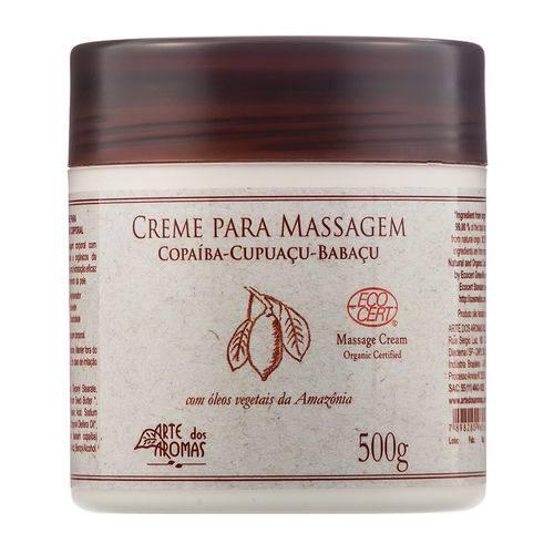 Creme para Massagem Orgânico Copaíba 500g - Arte dos Aromas