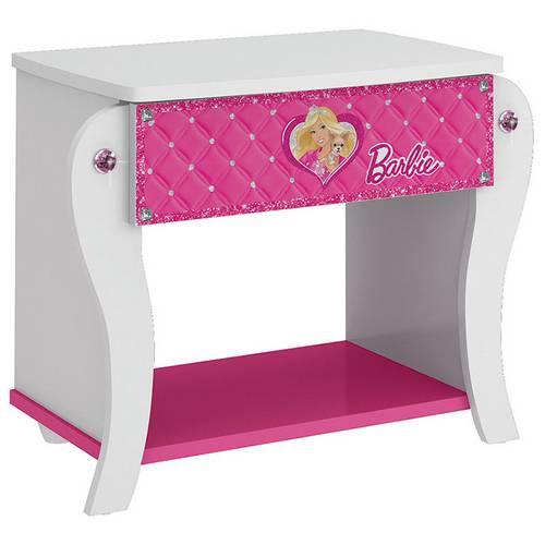 Tudo sobre 'Criado Mudo Barbie Premium 5a 1 Gaveta Branco/Pink Pura Magia'