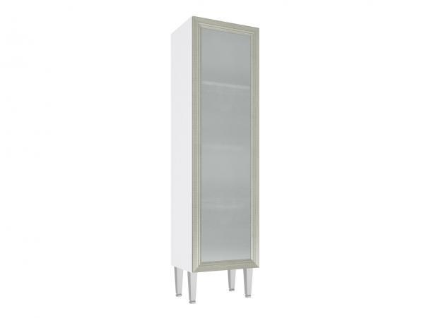 Cristaleira 1 Porta Vidro 40X149 Branco/Nude - Art In Moveis