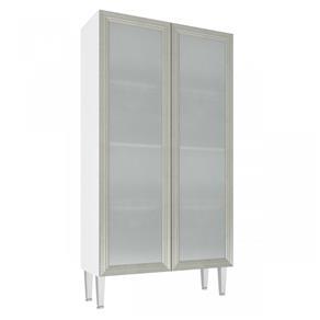 Cristaleira Baixa 2 Portas de Vidro CZ707 - Art In Móveis - CZ707 - Branco/Nude