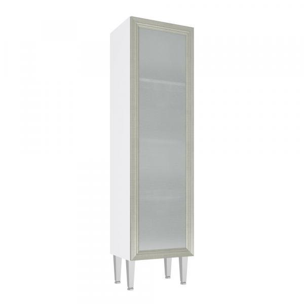 Cristaleira com 1 Porta Vidro Cz706 40x149 Branco/Nude - Art In Móveis