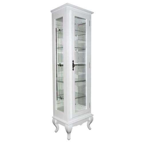 Tudo sobre 'Cristaleira com Espelho + 5 Prateleiras de Vidro Branca - Wood Prime Biomóvel 962322'