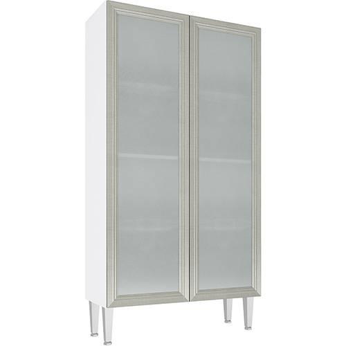 Cristaleira CZ707 2 Portas Vidro Branco/Nude - Art In Móveis