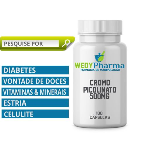 Cromo Picolinato 200mcg 100 Cápsulas