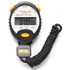 Cronômetro Profissional VOLLO VL-501 com Alarme e Relógio Cor Preta