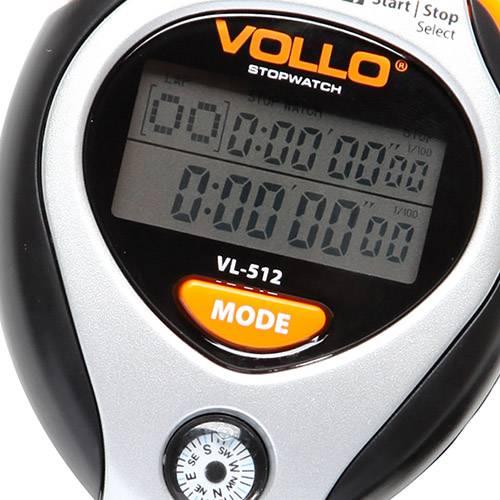 Cronômetro Vollo com 10 Memórias e Bússola
