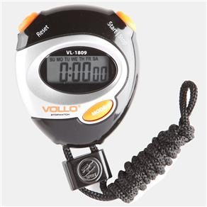 Cronômetro Vollo VL1809 - Preto/ Laranja