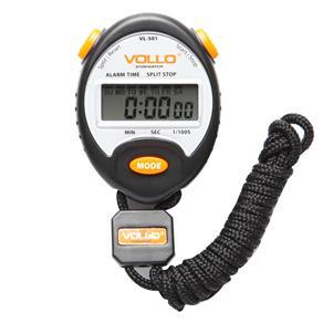 Cronômetro Vollo VL501 - Preto/ Laranja