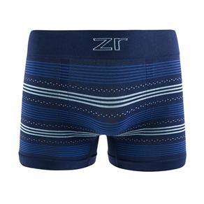 Cueca Boxer Sem Costura - Azul Marinho - GG