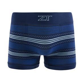 Cueca Boxer Sem Costura - G - Azul Marinho