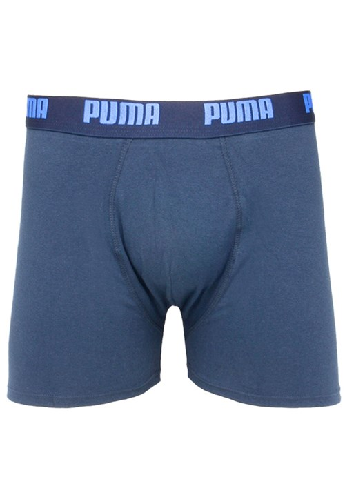 Cueca Puma Boxer Logo Azul-marinho