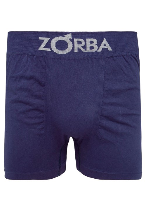 Cueca Zorba Boxer Logo Azul-Marinho