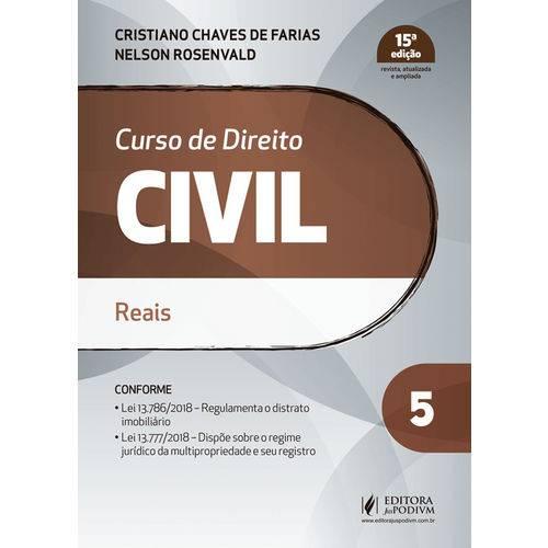 Curso de Direito Civil - Volume 5 - Reais - 15ª Edição (2019)