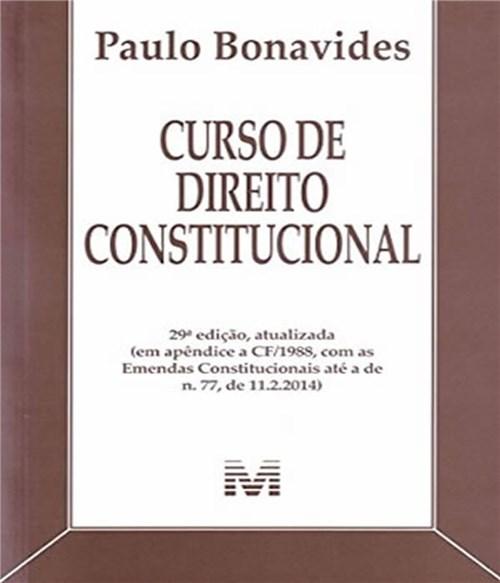 Curso de Direito Constitucional - 29 Ed