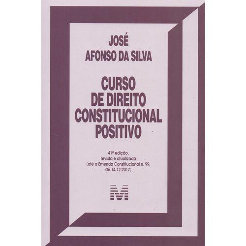 Curso de Direito Constitucional Positivo - 41ed/18