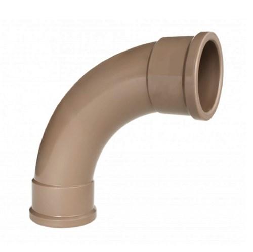 "Curva 90° Marrom PVC Soldável 20mm ou 1/2"" Plastilit"