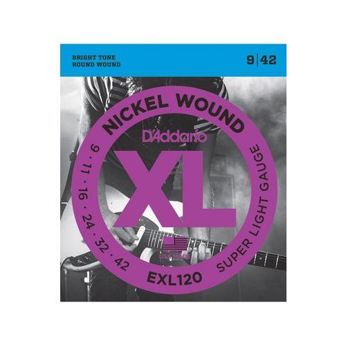 D'addario - Encordoamento para Guitarra Exl120b (009)
