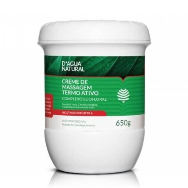 Dágua Natural Termoativo Creme P/ Massagem 650g