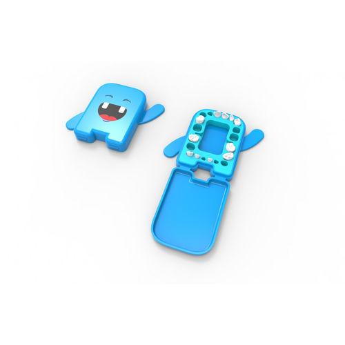 Dental Álbum Azul Estojo para Guardar os Dentes de Leite