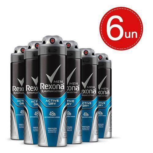 Tudo sobre 'Desodorante Aerosol Rexona Masculino Active Dry 150ml 6 Unidades'