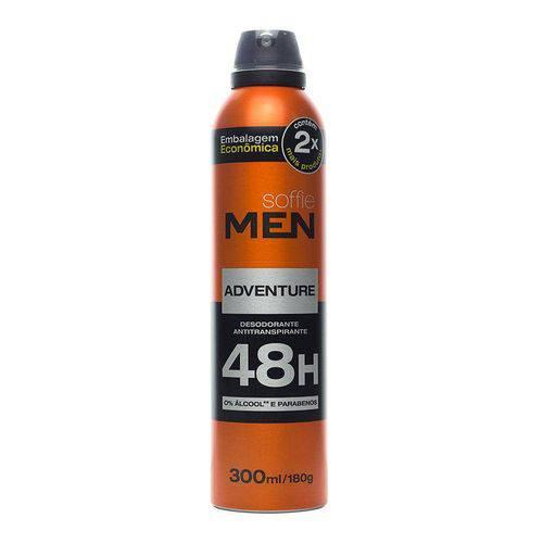 Tudo sobre 'Desodorante Antitranspirante Soffie Adventure 300ml'