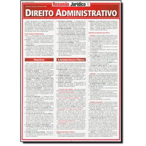 Direito Administrativo - Vol. 1 - Coleção Resumão Jurídico