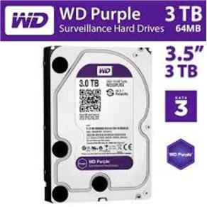 Disco Rígido Western Digital 3TB Purple A/V SATA - WD30PURX