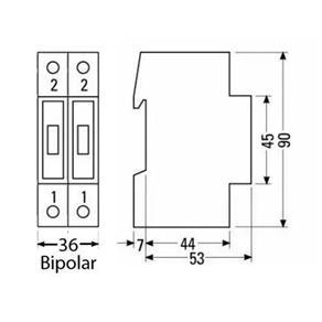 Disjuntor Bipolar 16A Steck