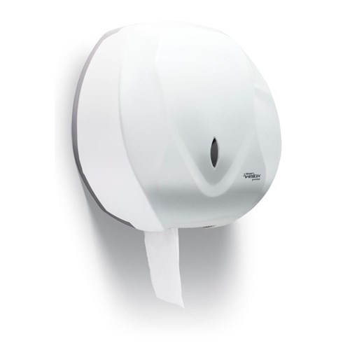 Dispenser de Papel Higiênico Velox Premisse Branco Tipo Rolão