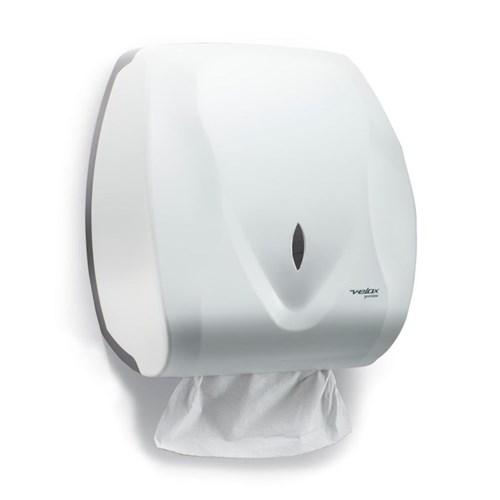 Dispenser de Papel Toalha Interfolhas Velox Premisse Branco