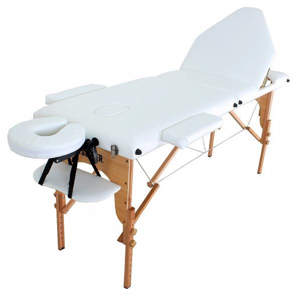 Divã Mala Dobrável Reclinável com Orificio Mesa Maca Massagem Estética - Modelo MMPCIB Branca Tssaper