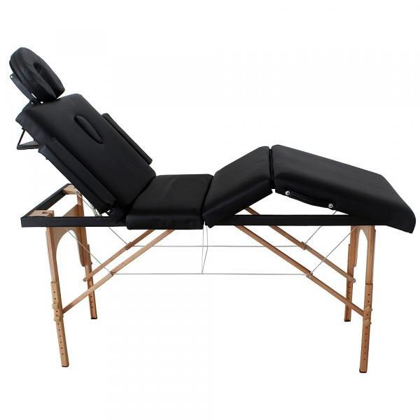 Divã Mala Dobrável Reclinável Premium com Orificio Mesa Maca Massagem Estética - Modelo MMP70P Preta Tssaper