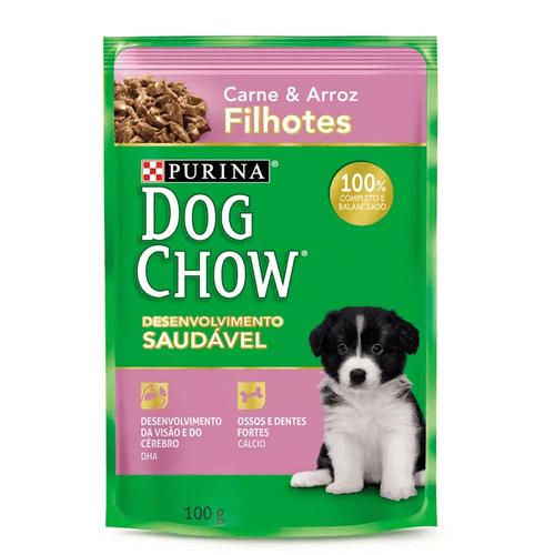 Tudo sobre 'Dog Chow Sachê Filhotes Carne e Arroz 100g'