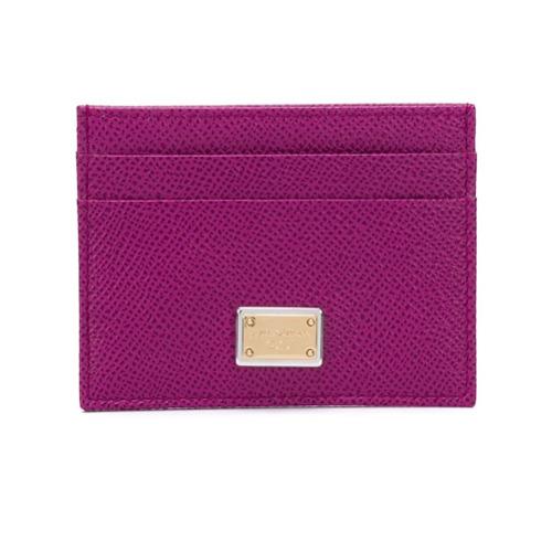 Dolce & Gabbana Porta-cartão em Couro - Rosa