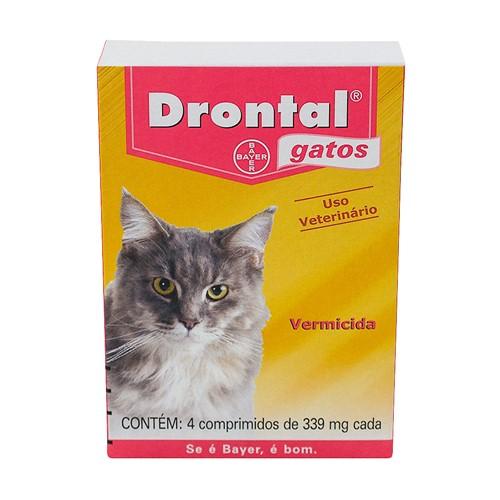 Drontal 339mg para Gatos Vermicida com 4 Comprimidos
