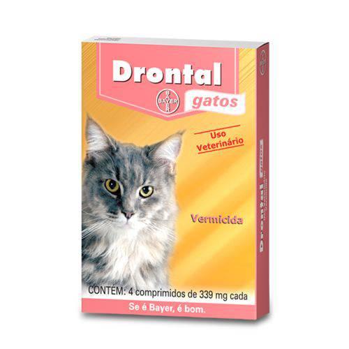 Drontal Gatos para 4kg Caixa com 4 Comprimidos