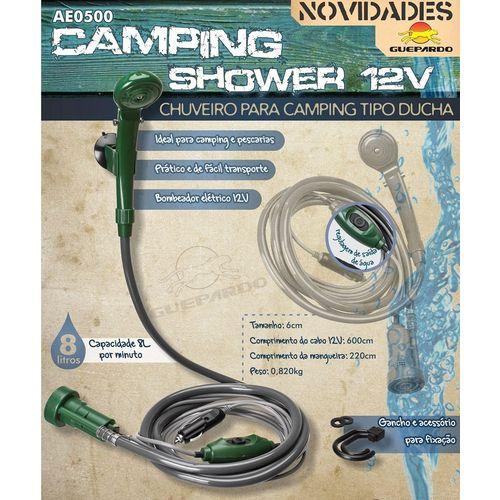 Tudo sobre 'Ducha Portátil Camping Shower Chuveiro 12v Guepardo'