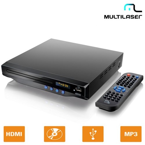DVD Player com Saída HDMI 5.1 Canais, USB, Karaokê SP193 - Multilaser