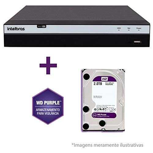 DVR Stand Alone Intelbras MHDX 3108 08 Canais Multi HD 2 TB