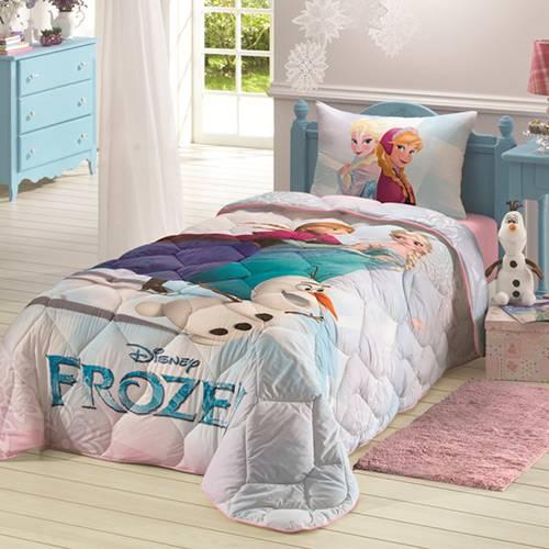 Edredom Infantil Frozen 180 Fios Lilás - Lepper
