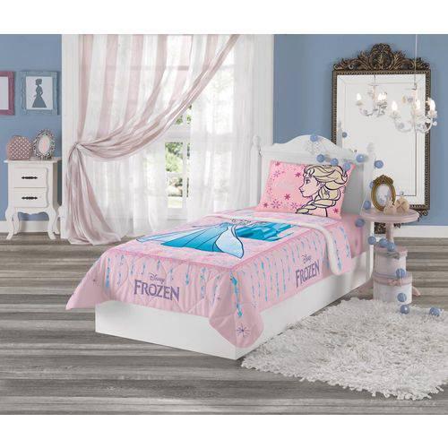 Edredom Infantil - Frozen Rosa - Estampa Cheia - Lepper