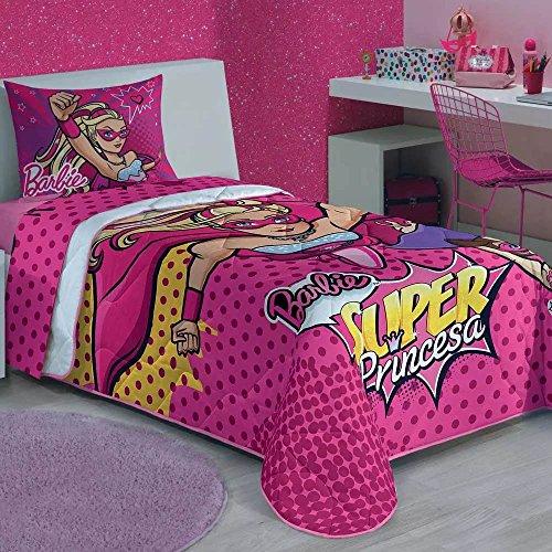 Edredom Solteiro Estampado Barbie Super Princesa - Lepper