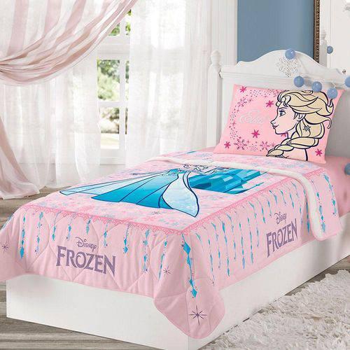 Edredom Solteiro Frozen 1 Peça Rosa - Lepper