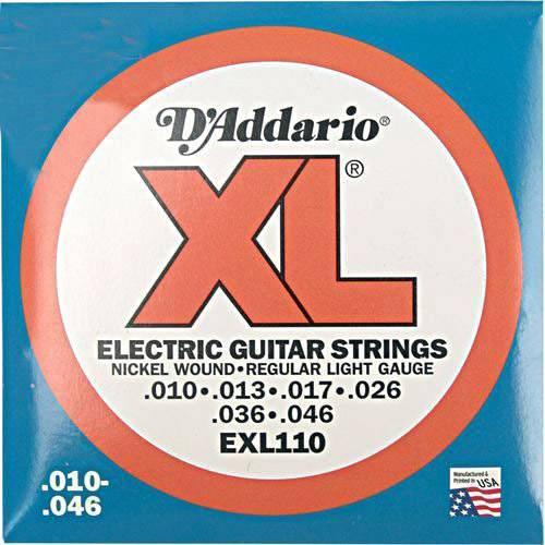 Encordoamento D¿Addario Guitarra Exl110-B 010-046 - Primeira Extra