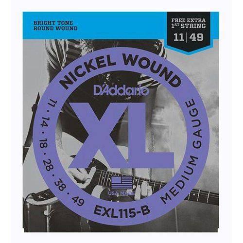 Encordoamento Daddario Guitarra 011 - 049 EXL115-B