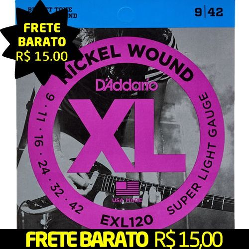 Encordoamento D'addario para Guitarra 09 Exl120