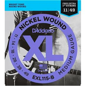 Encordoamento Guitarra 0.11 Daddario EXL115-B