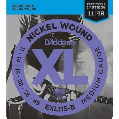 Encordoamento Guitarra 011 Daddario Exl115 Xl Nickel