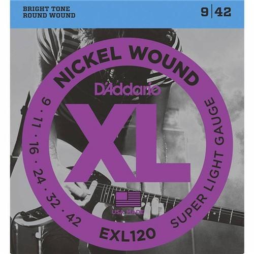 Encordoamento Guitarra 09 Daddario Exl120